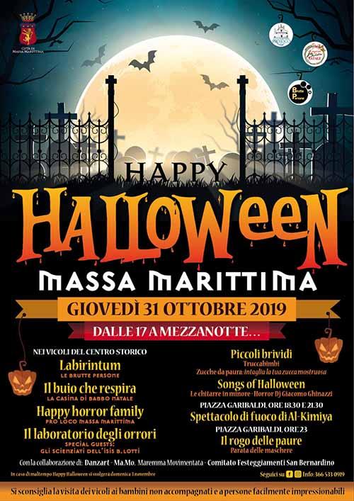 Programma Happy Halloween a Massa Marittima - 31 Ottobre 2019