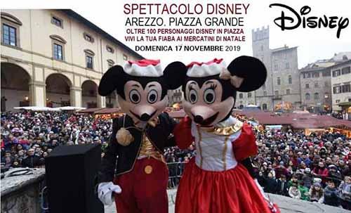 Spettacolo Disney 2019 ad Arezzo - Piazza Grande Parata Disney 17 Novembre