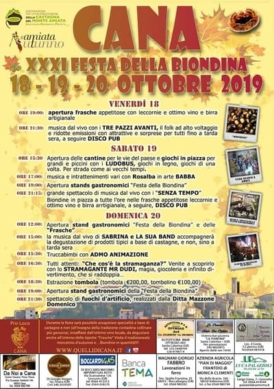 Festa Biondina Cana 2019