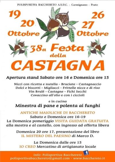 Festa Castagna Bacchereto 2019
