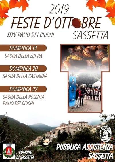 Feste ottobre Sassetta 2019