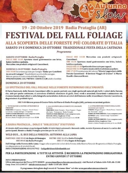 Festival Fall Foliage Badia Prataglia 2019