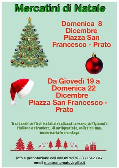 Mercatini Natale Prato 2019