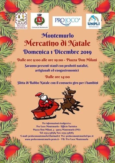 Mercatino Natale Montemurlo 2019