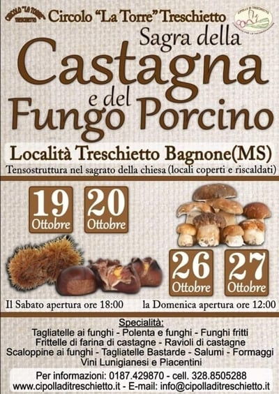 Sagra Castagne Funghi Treschietto 2019