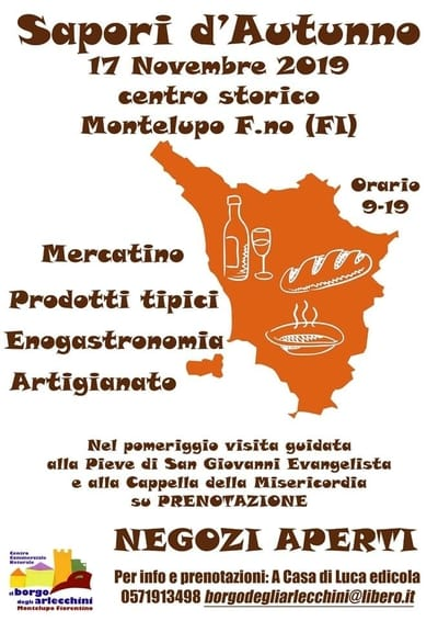 Sapori Autunno Montelupo Fiorentino 2019