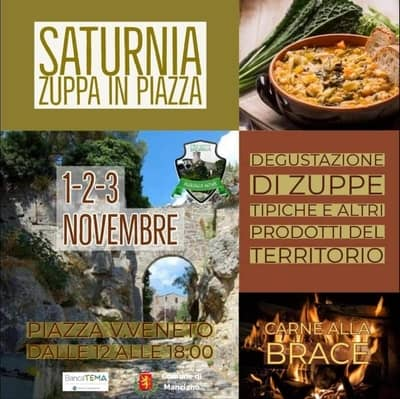 Zuppa in Piazza Saturnia