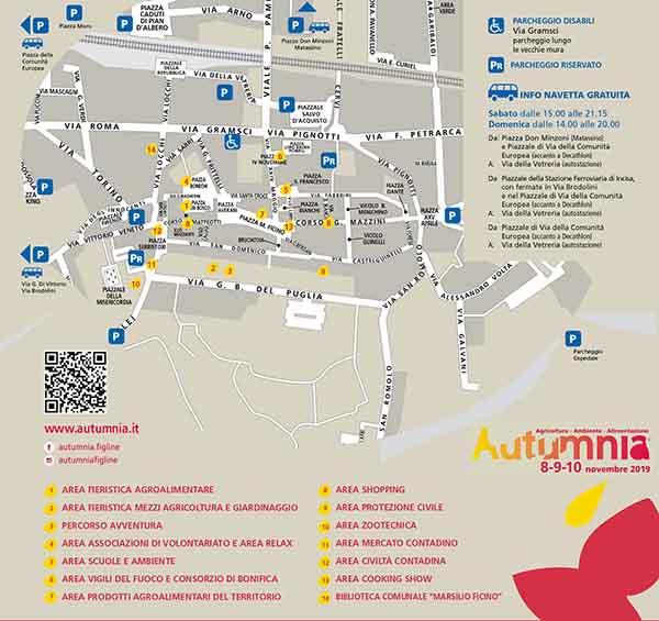 Cartina Autumnia 2019 a Figline Incisa Valdarno