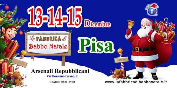 La Fabbrica di Babbo Natale 2019 a Pisa - Arsenali Repubblicani