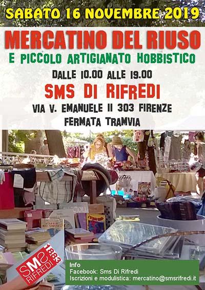 Locandina Mercatino del Riuso a Firenze Rifredi - 16 Novembre 2019