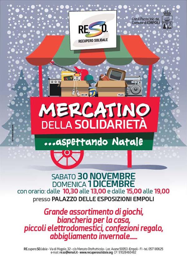 Manifesto Mercatino della Solidarietà - Aspettando Natale 2019 a Empoli