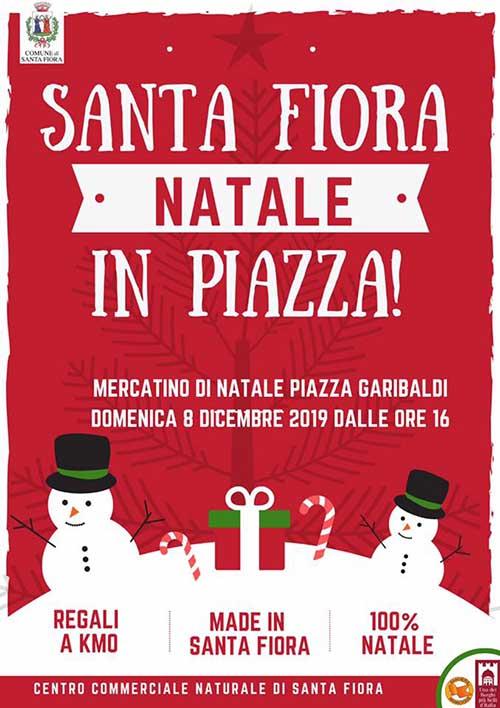 Manifesto Natale in Piazza a Santa Fiora 2019