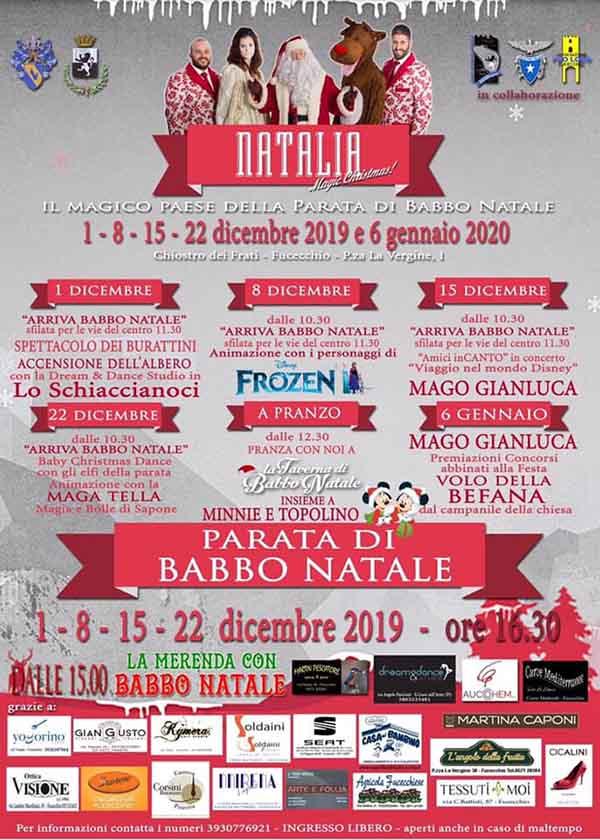 Manifesto Natalia 2019 Fucecchio - La Grande Festa del Natale 2019 a Fucecchio