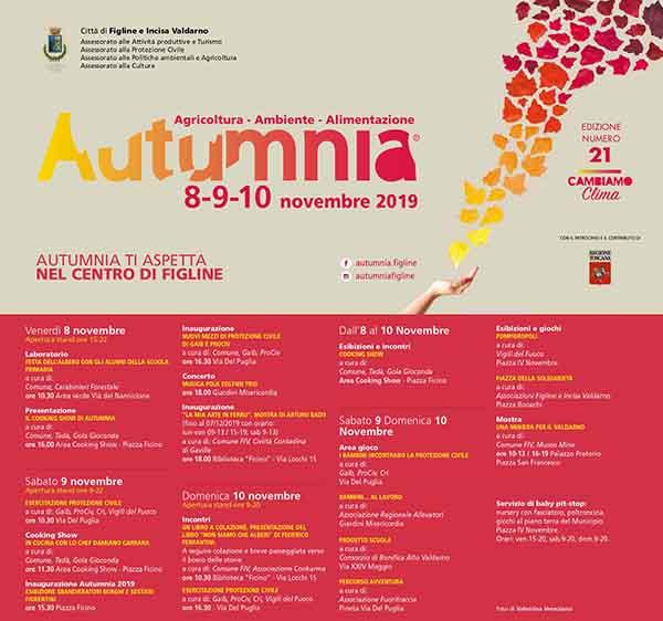 Programma Autumnia 2019 a Figline Incisa Valdarno
