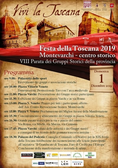 Programma Festa della Toscana 2019 Montevarchi