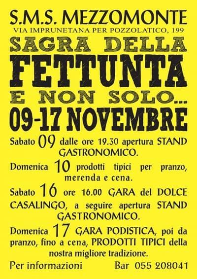 Sagra Fettunta Mezzomonte 2019