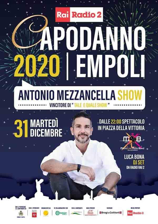 Manifesto Capodanno in Piazza ad Empoli 2020 - Piazza della Vittoria 31 Dicembre 2019