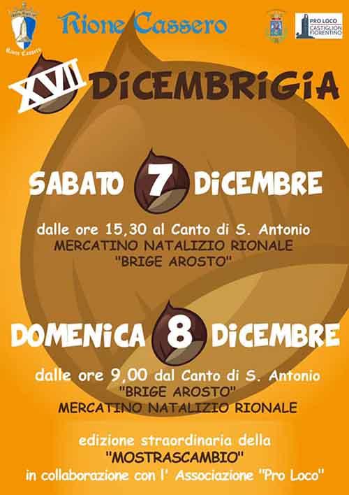 Manifesto Dicembrigia 2019 a Castiglio Fiorentino - Rione Cassero
