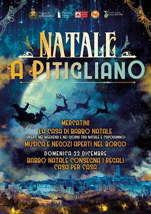 Manifesto Natale a Pitigliano 2019