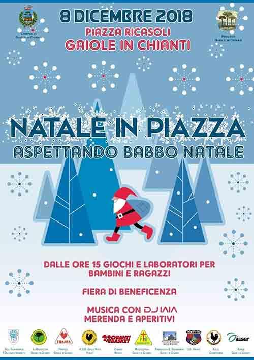 Manifesto Natale in Piazza a Gaiole in Chianti - 8 Dicembre 2019