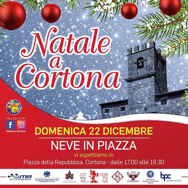 Natale a Cortona 2019 - Neve in Piazza 22 Dicembre 2019