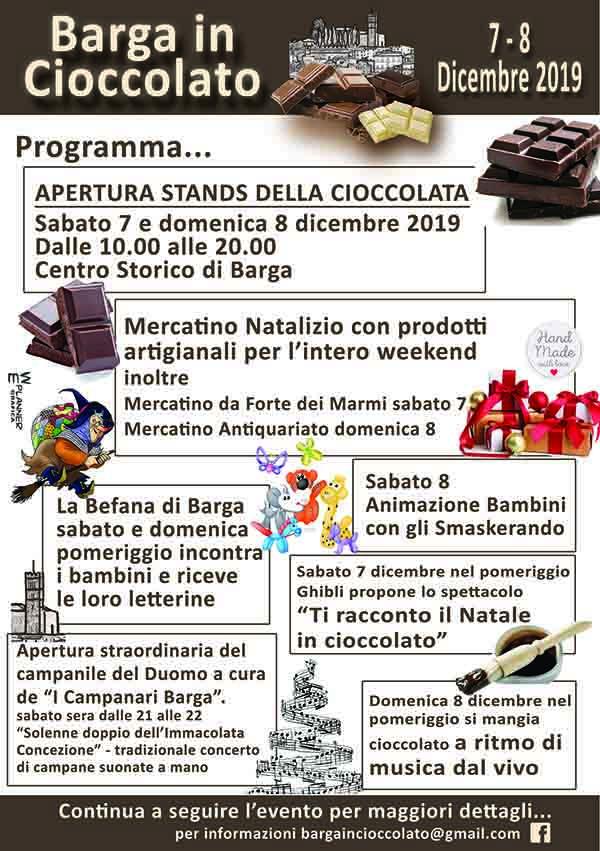 Programma Barga in Cioccolato 2019