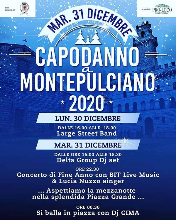 Programma Capodanno Montepulciano 2020 - 31 e 30 Dicembre 2019
