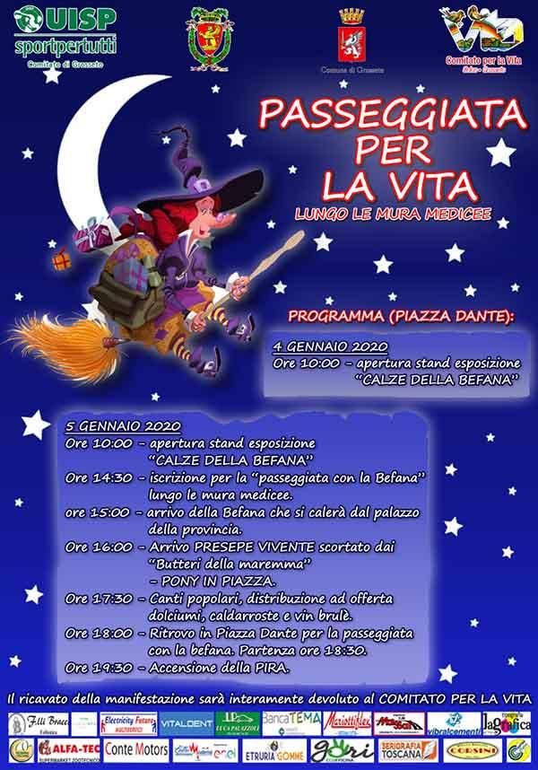 Programma La Befana a Grosseto Gennaio 2020 - Piazza Dante