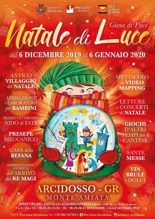 Programma Natale di Luce 2019 ad Arcidosso Monte Amiata