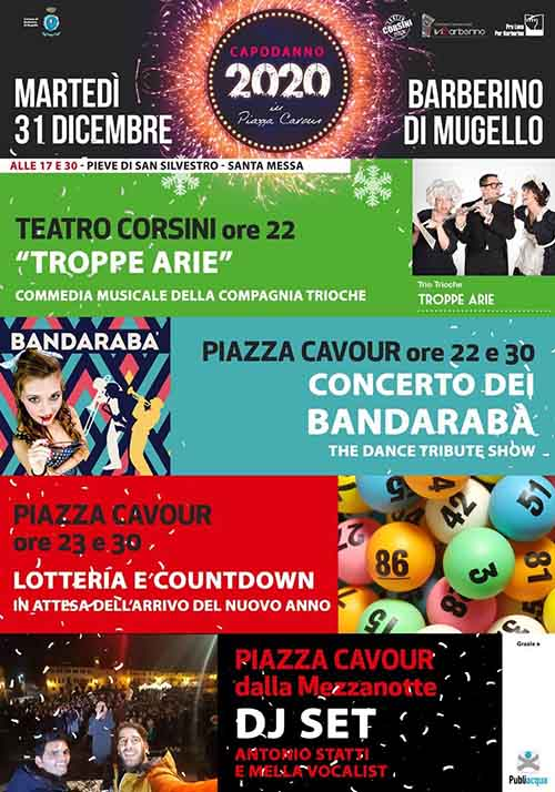 Programma in Piazza per Capodanno 2020 a Barberino del Mugello - 31 Dicembre 2019
