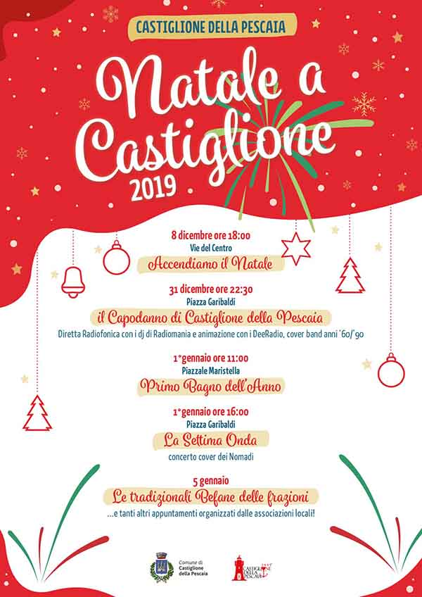 Volantino Programma Natale a Castiglion della Pescaia 2019