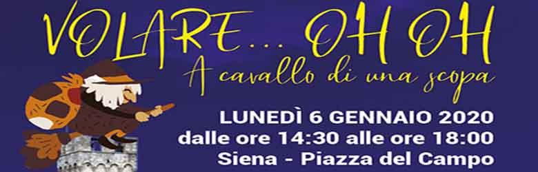 Befana in Piazza del Campo a Siena 2020 - lunedi 6 gennaio