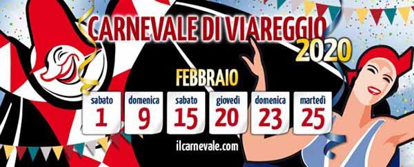 Carnevale di Viareggio 2020 - Febbraio 6 Corsi Mascherati
