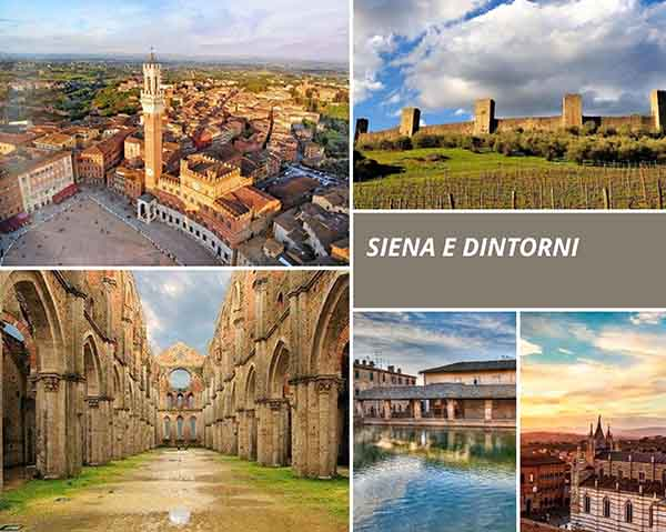 Collage Siena ed i suoi Dintorni