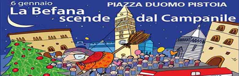 La Befana scende dal Campanile a Pistoia 2020 - Piazza del Duomo 6 Gennaio