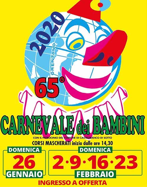 Manifesto Carnevale di Orentano 2020 - Castelfranco di Sotto Pisa