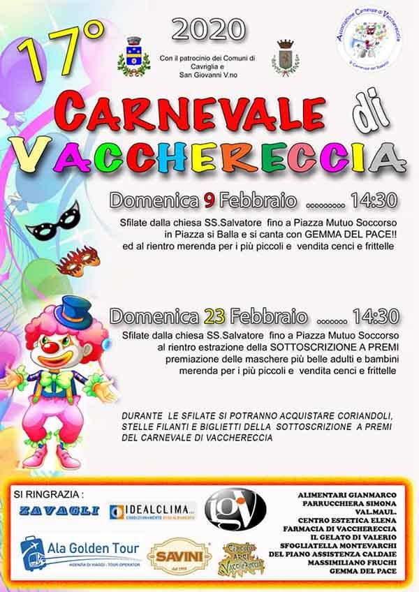 Manifesto Carnevale di Vacchereccia 2020 - San Giovanni Valdarno e Cavriglia