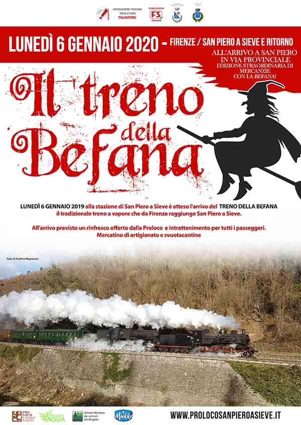 Manifesto Il Treno della Befana da Firenze 2020