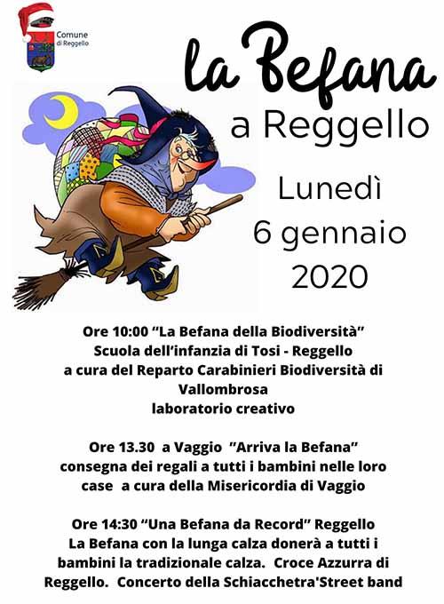 Manifesto La Befana a Reggello 2020