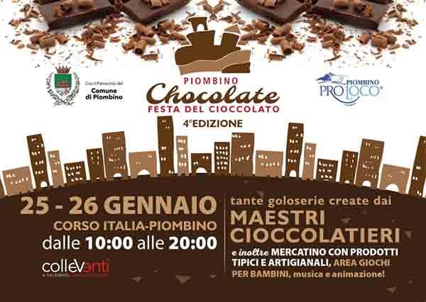 Manifesto Piombino Chocolate 2020 - Festa del Cioccolato 4° Edizione