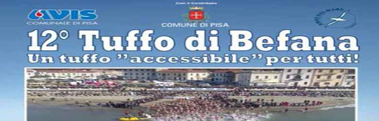 Tuffo della Befana 2020 a Marina di Pisa