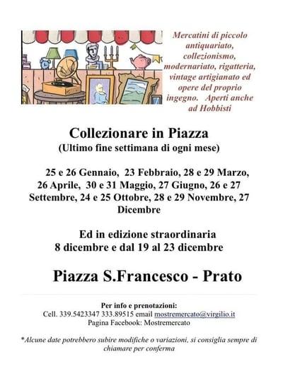 Collezionare Piazza Prato 2020