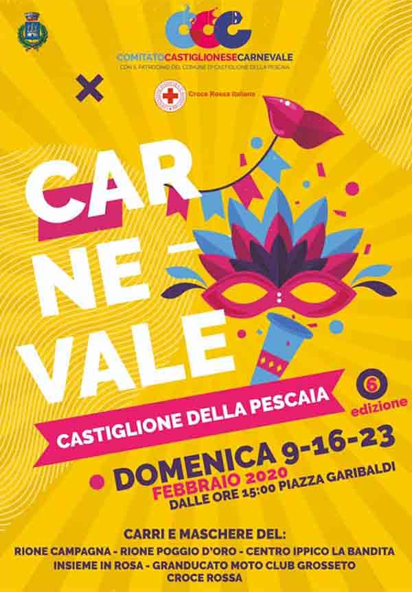 Manifesto Carnevale a Castiglione della Pescaia 2020