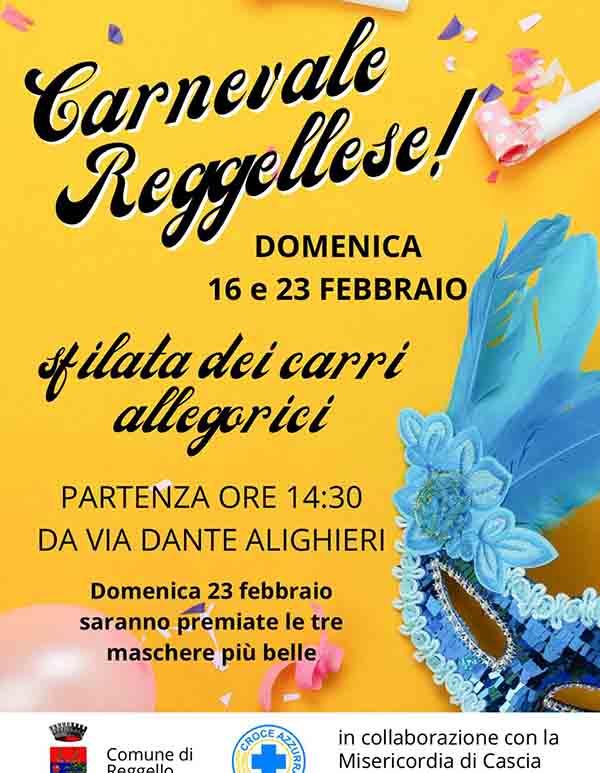 Manifesto Carnevale a Reggello 2020 - Carnevale Reggellese
