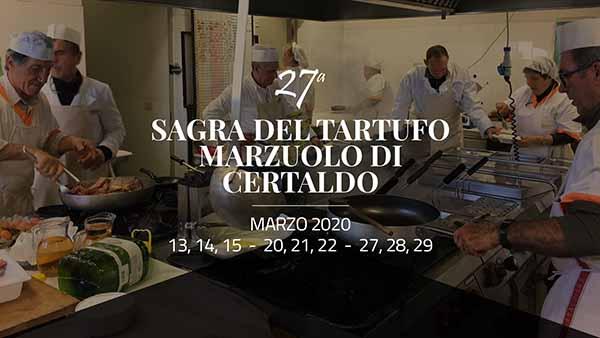 Sagra del Tartufo Marzuolo di Certaldo marzo 2020 - 27° Edizione