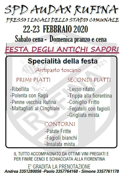 Festa Antichi Sapori Rufina 2020
