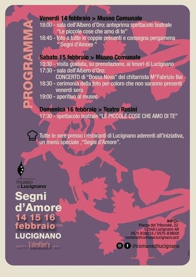 Programma segni amore Lucignano