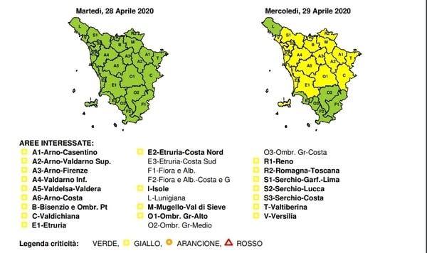 Codice Giallo Toscana 29 aprile