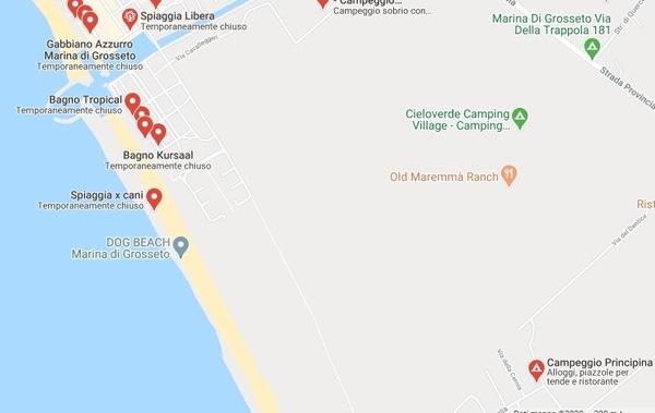 Spiaggi cani Marina di Grosseto