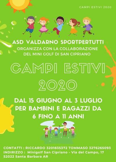 Campi Estivi Valdarno 2020